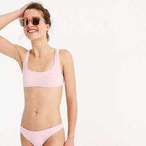 J. Crew | Pink Terry Cloth Bikini